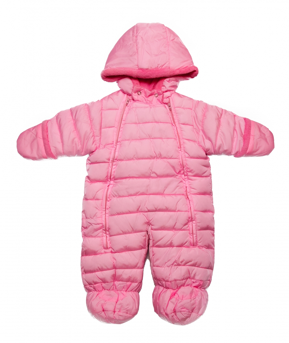 Combinezoane bebe copii de iarna 3551 fuxia roz 3luni-12luni