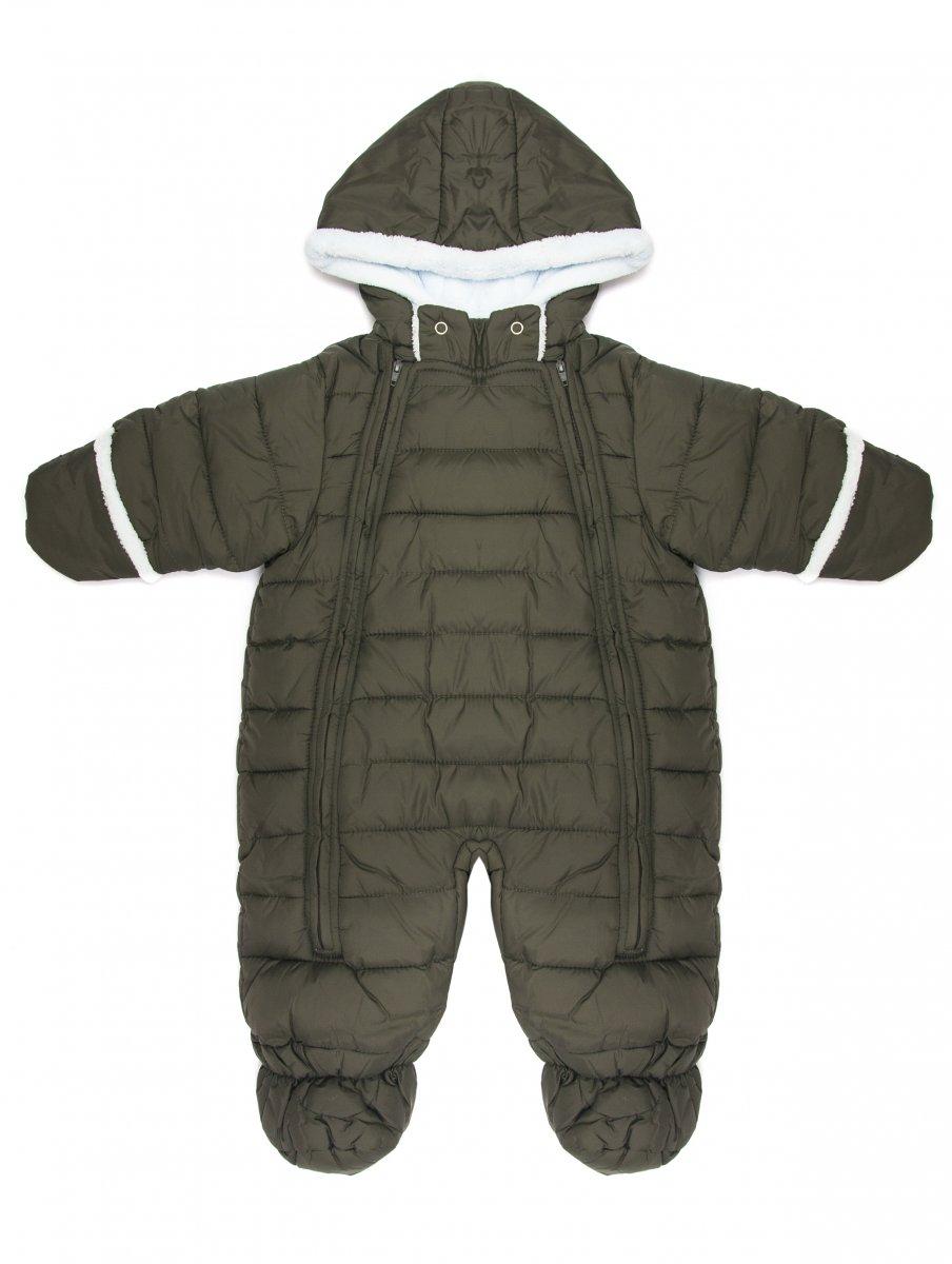 Combinezon copii de iarna 3551 gri kaki 3luni-12luni