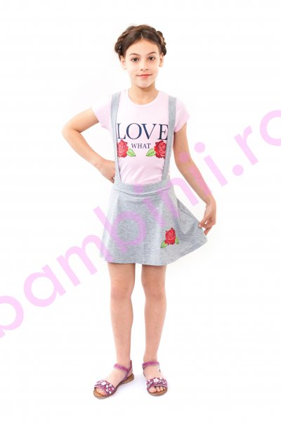 Compleuri fete breeze 9053 roz gri 116-152