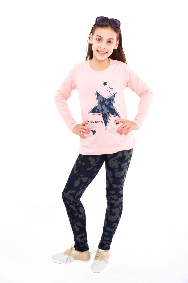 Compleuri fete breeze grils 886 roz stea 122-164cm