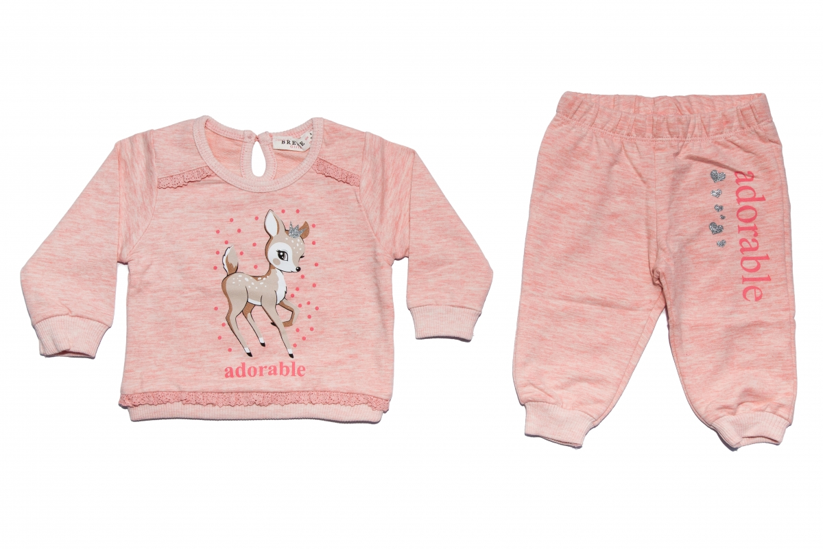 Compleuri fete cu maneca lunga 12165 roz 68-92cm