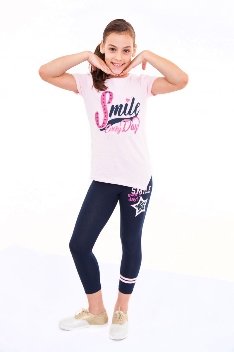 Compleuri fete de vara smile 2562 roz blu 116-164cm