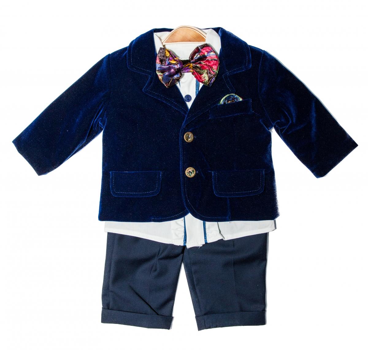 Costum baieti botez Ralph albastru 3luni-9luni
