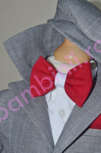Costum baieti botez colibri 2002 gri ivoar 3luni-7ani