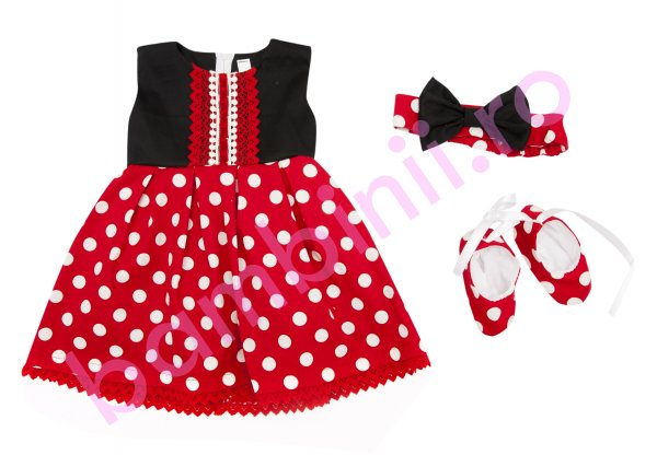 Costum botez fete Minnie 6015