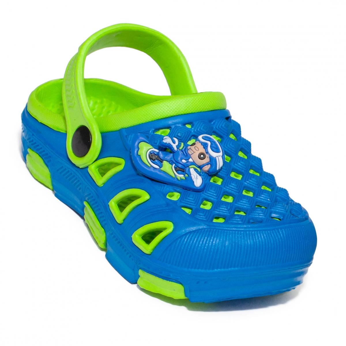 Crocsi copii de plaja 5668 albastru verde 18-35