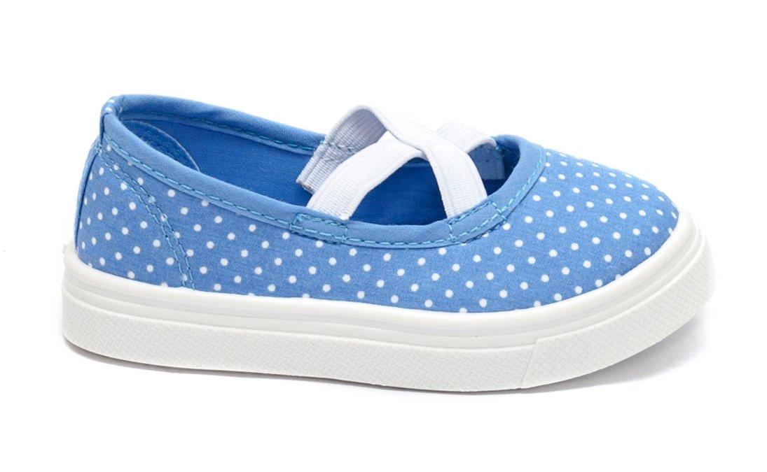 Espadrile fete textil 958 albastru buline albe 22-27