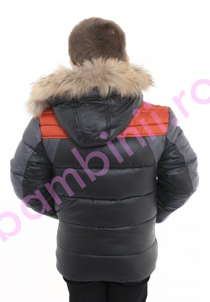 Geci copii de iarna 1223 gri portocaliu