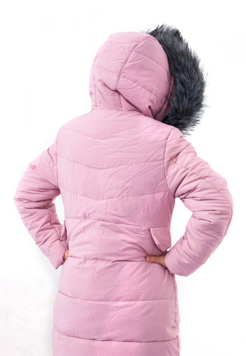 Geci fete de iarna groase 2129 roz 128-164cm