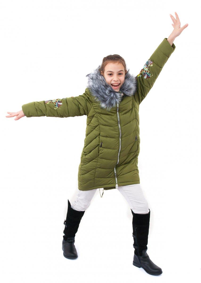 Geci fete de iarna groase buvnita 2128 kaki 128-164cm