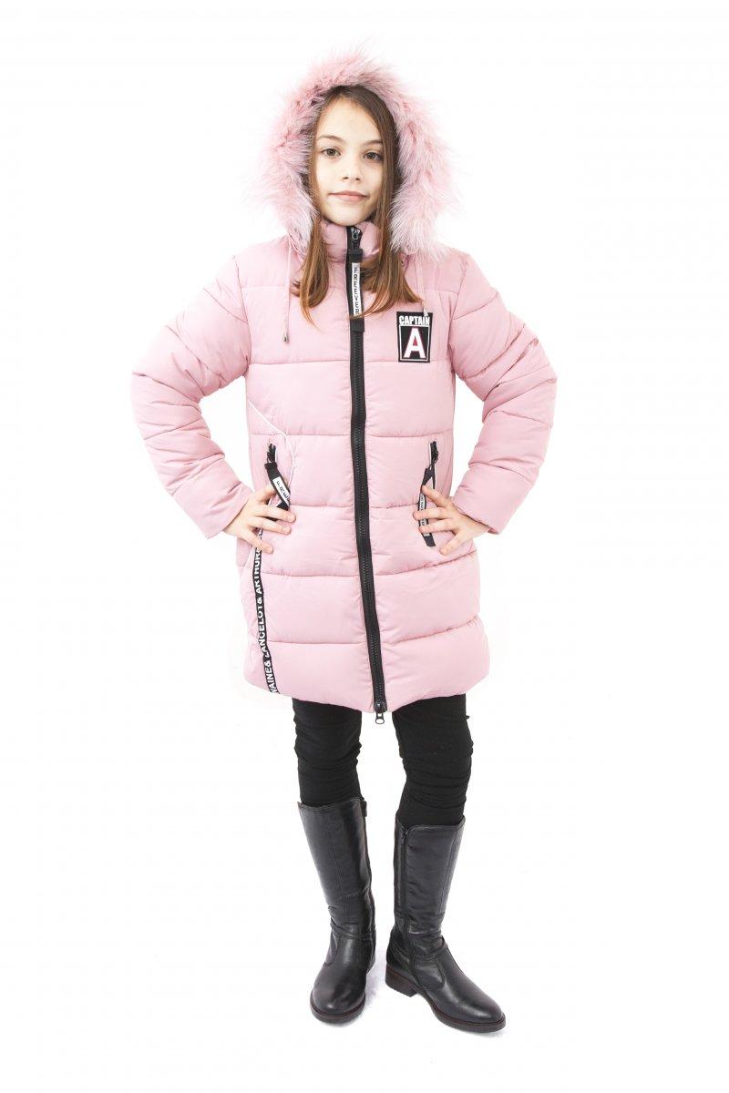 Geci fete groase de iarna 2126 roz 128-164cm
