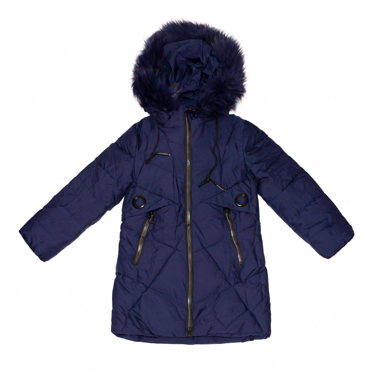 Geci lungi fete groase de iarna 2156 blu 128-164cm
