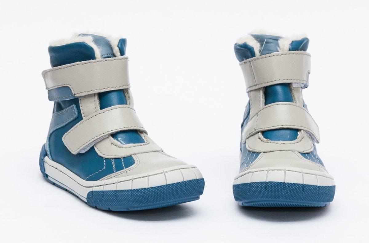 Ghete blana baieti pj shoes Kiro albastru gri 20-29