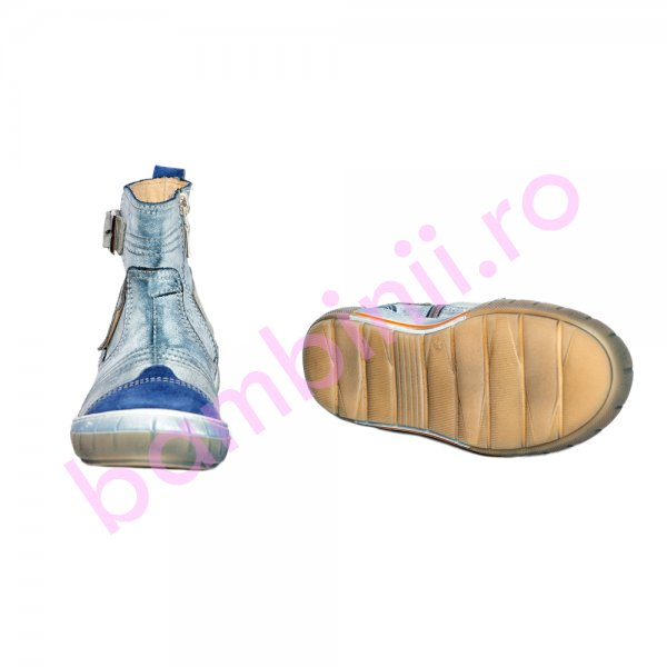 Ghete copii blana pj shoes Jonas albastru blu 27-34