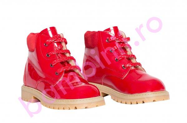 Ghete copii blana pj shoes Luca 2 rosu lac 20-26