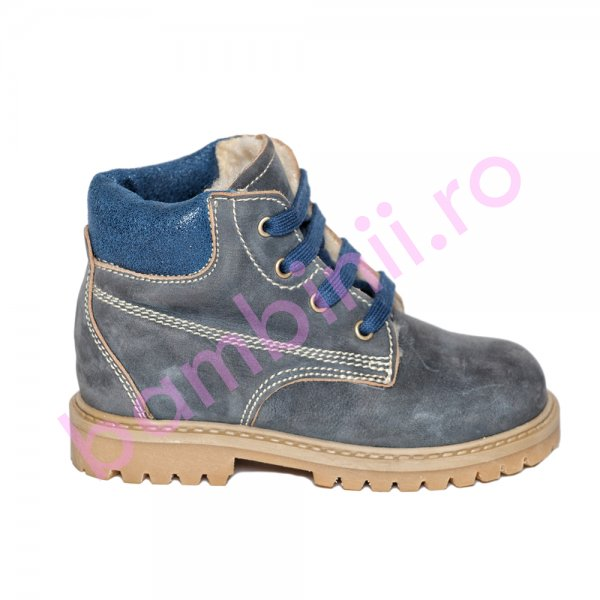 Ghete copii blana pj shoes Luca blu 20-26