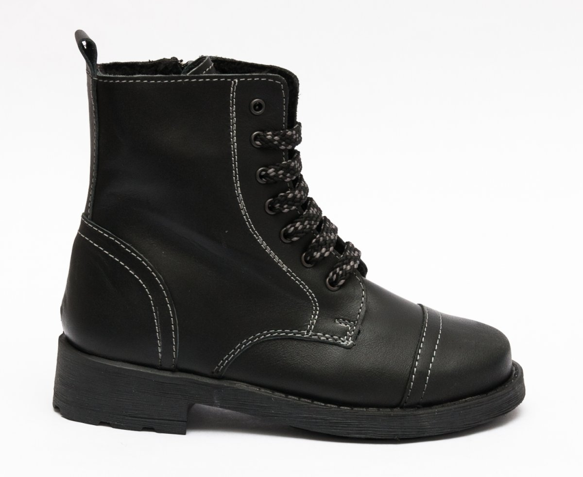 Ghete copii cu blana pj shoes King negru box 27-36