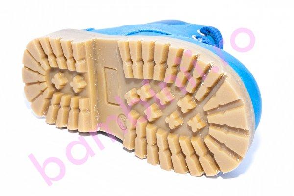 Ghete copii cu blana pj shoes Luca blu cielo 20-26