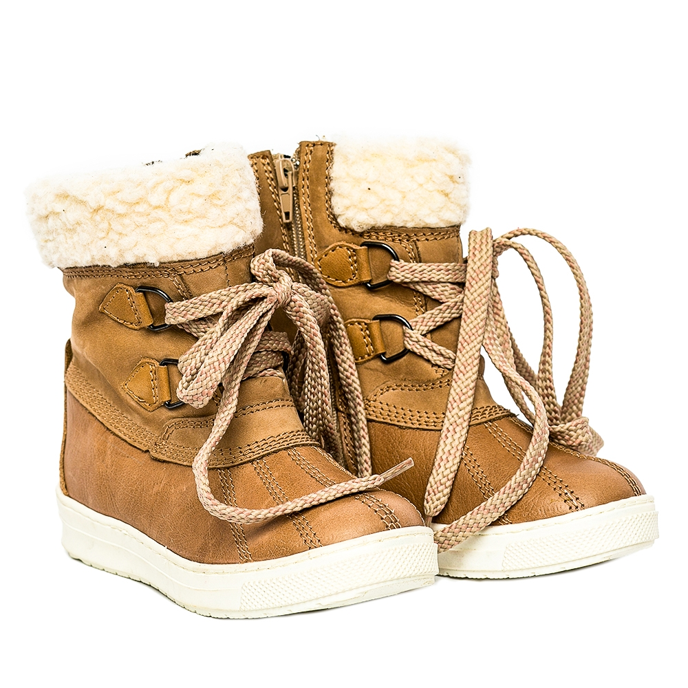 Ghete copii cu blana pj shoes Ola bej 27-36