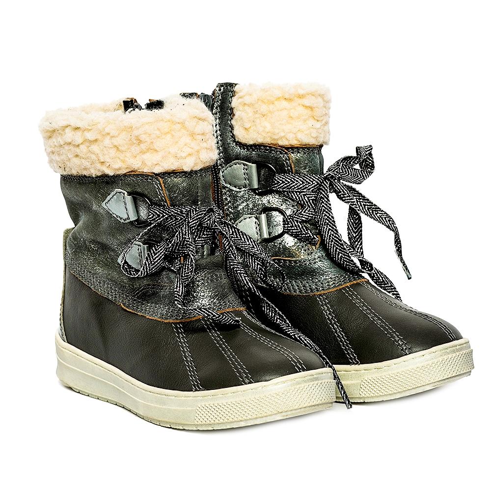 Ghete copii cu blana pj shoes Ola gri 27-36