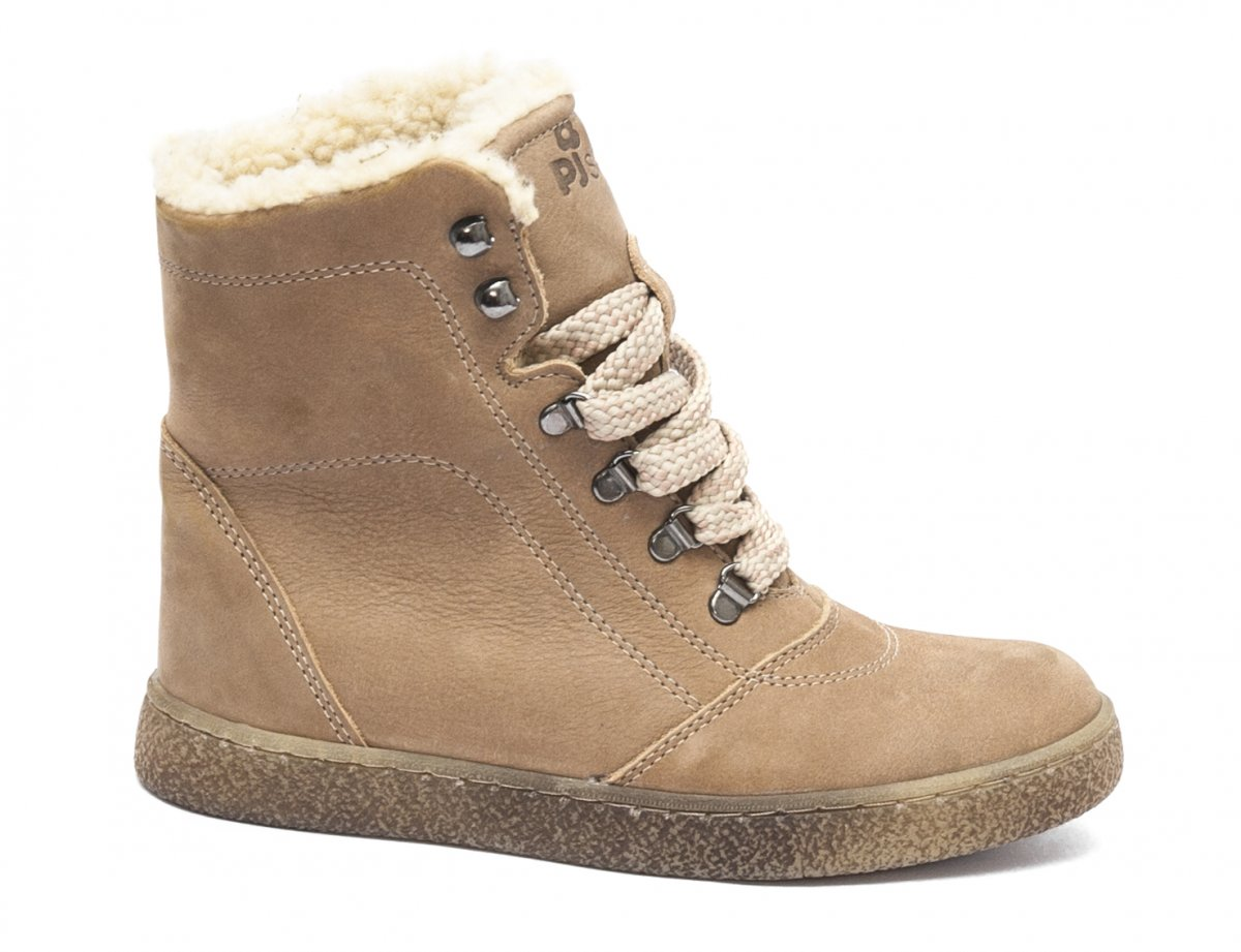 Ghete copii cu blana pj shoes Vero bej 31-36