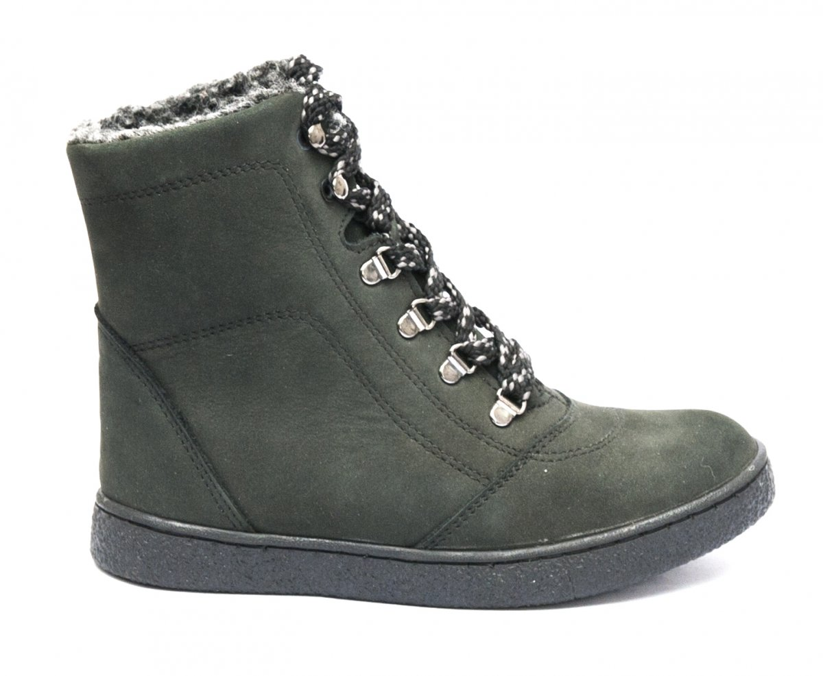 Ghete copii cu blana pj shoes Vero negru 31-36