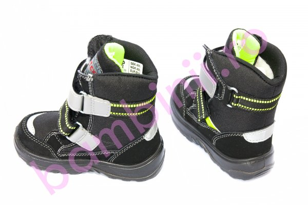 Ghete copii waterproof gt-tex 93312 negru verde