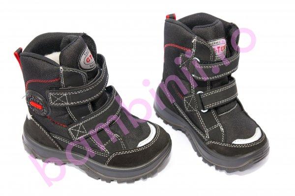 Ghete copii goretex 95113 negru rosu 25-36