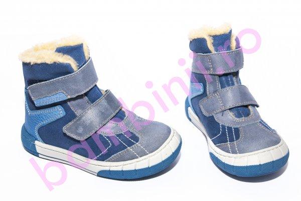 Ghete copii imblanite pj shoes Kiro albastru 20-29