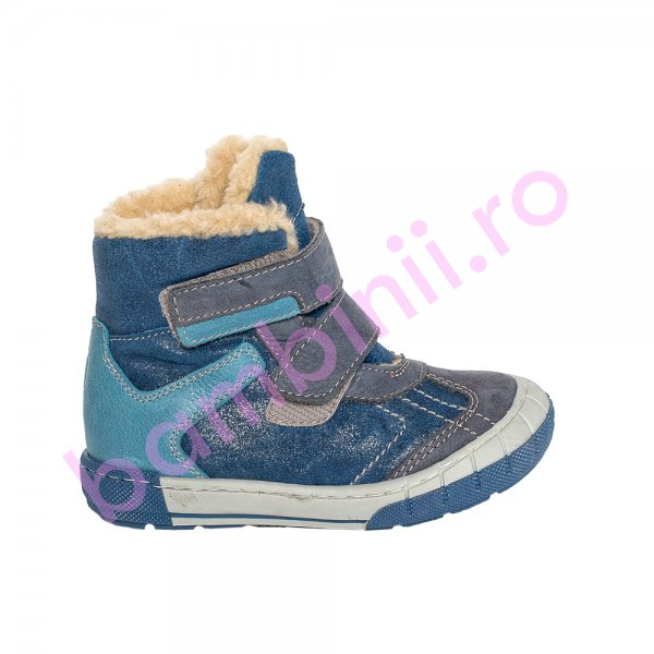 Ghete copii imblanite pj shoes Kiro albastru 20-29