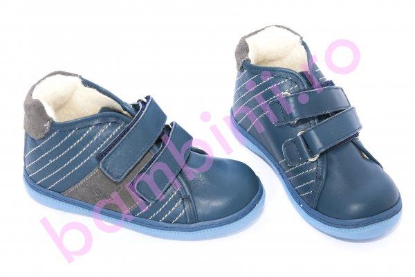 Ghete copii imblanite pj shoes Seby blu 20-29