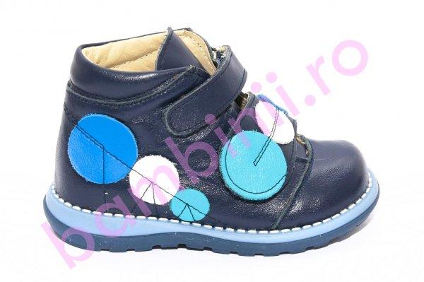 Ghete copii piele 561 blu buline 18-25