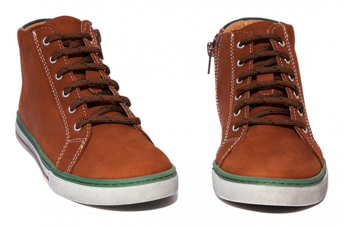 Ghete copii piele Pj shoes Vito maro 30-38