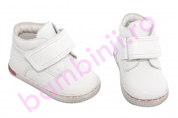 Ghete copii piele leofex 123 alb 19-25