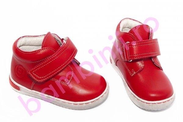 Ghete copii piele leofex 123 rosu 19-25