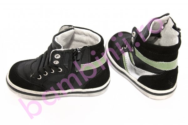 Ghete copii piele pj shoes Kid negru 20-26