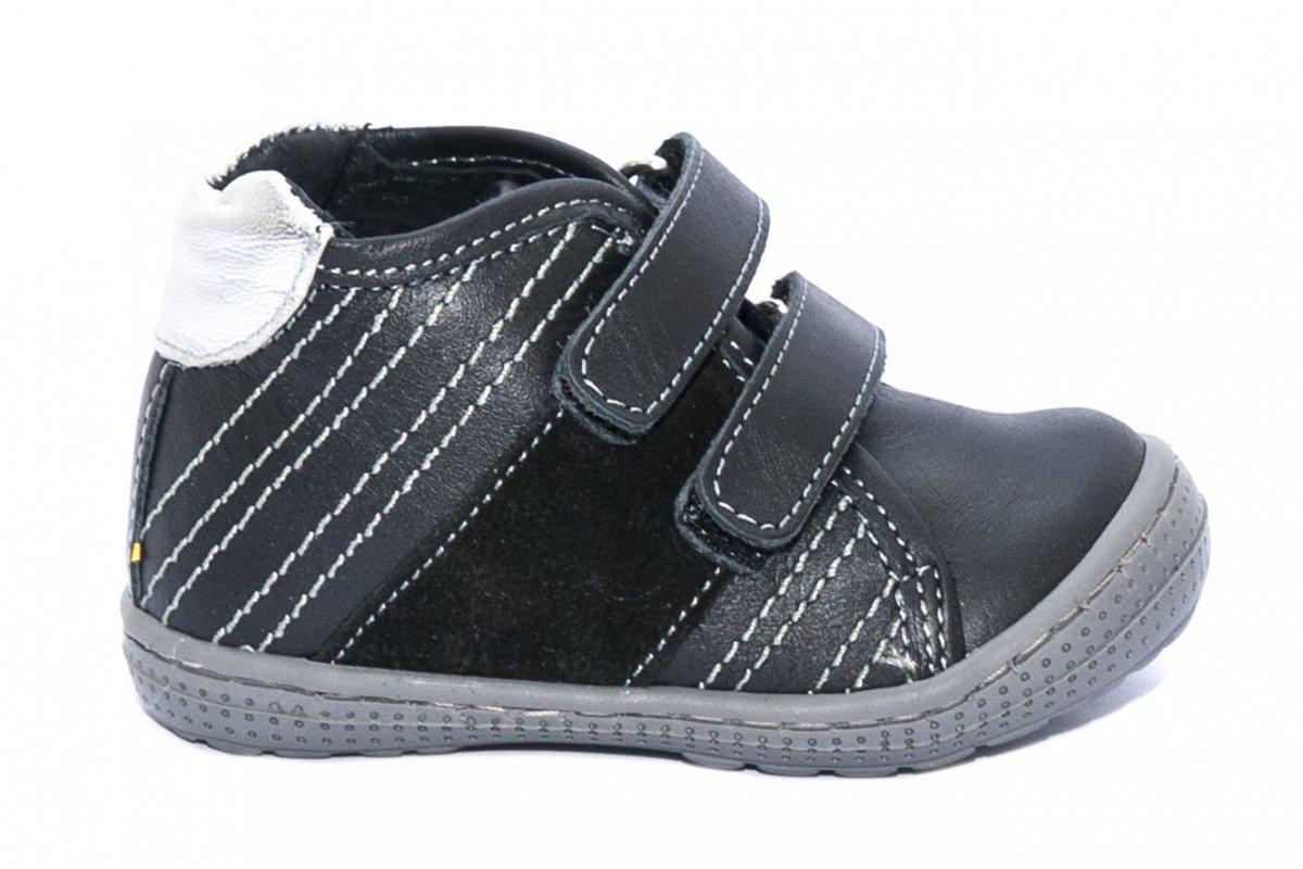 Ghete copii piele pj shoes Seby negru 20-26