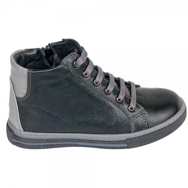 Ghete copii piele pj shoes Vito negru box 27-38