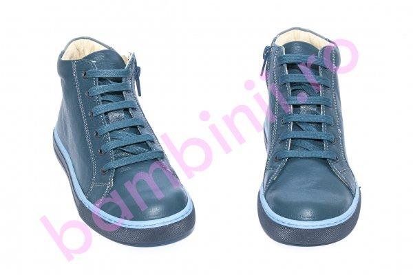 Ghete copii piele pj shoes Vito blumarin 31-38