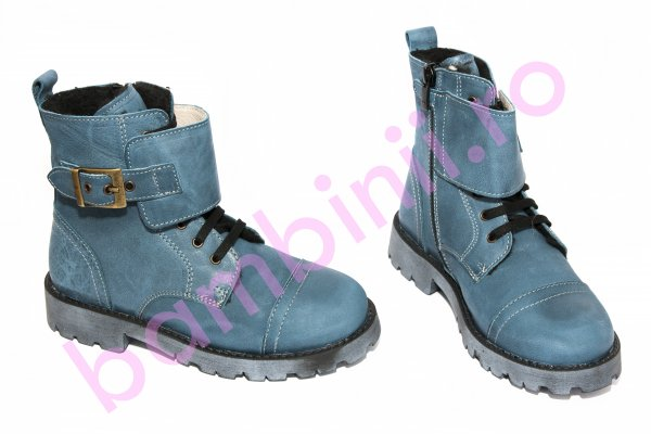 Ghete copii pj shoes Army 2 albastru 31-36