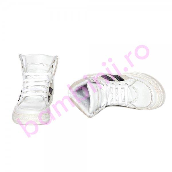 Ghete copii pj shoes Box alb negru 31-38