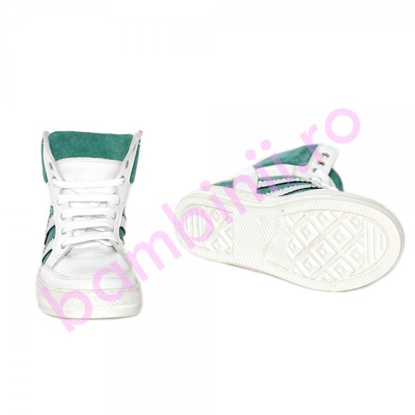 Ghete copii pj shoes Box alb verde 31-38
