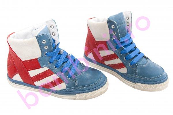Ghete copii pj shoes Box albastru rosu 31-38