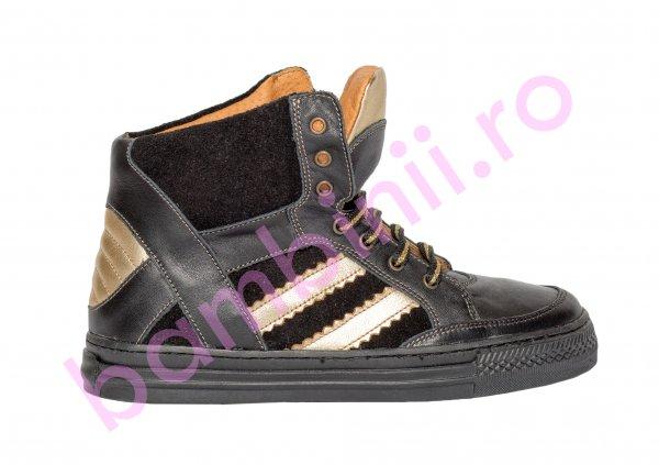 Ghete copii pj shoes Box negru auriu 31-38