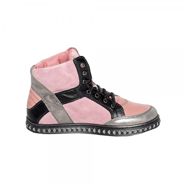 Ghete fete pj shoes Box roz negru 31-38