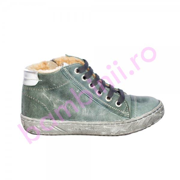 Ghete copii blana pj shoes Lalo gri kaki 27-36