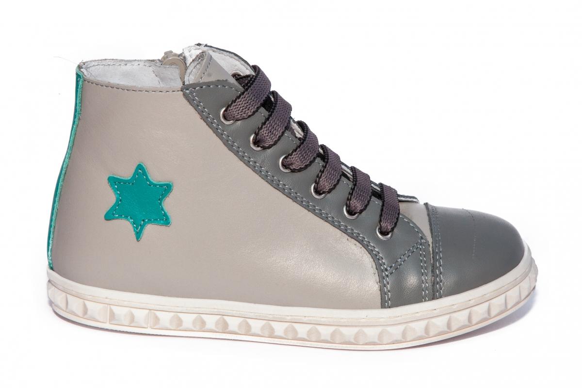 Ghete copii pj shoes Rebel gri verde 27-37