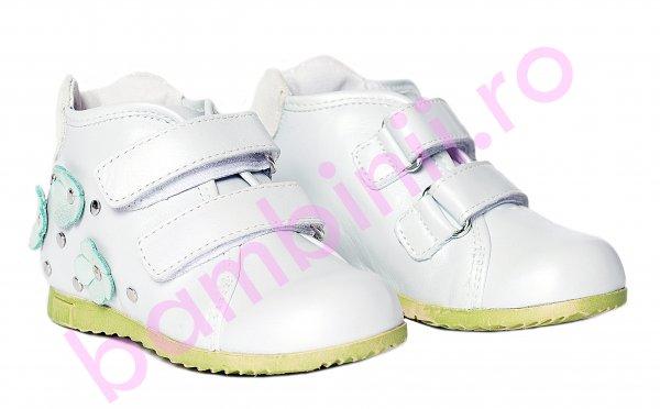 Ghete copii pj shoes Seby alb v 20-29