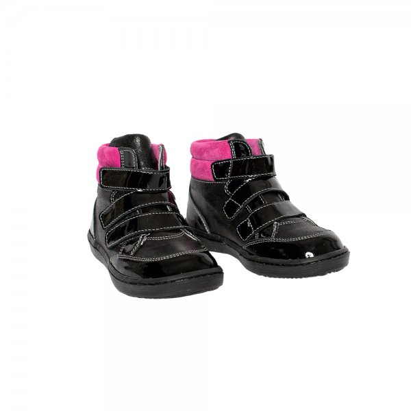Ghete copii pj shoes pj shoes West negru fuxia 20-26