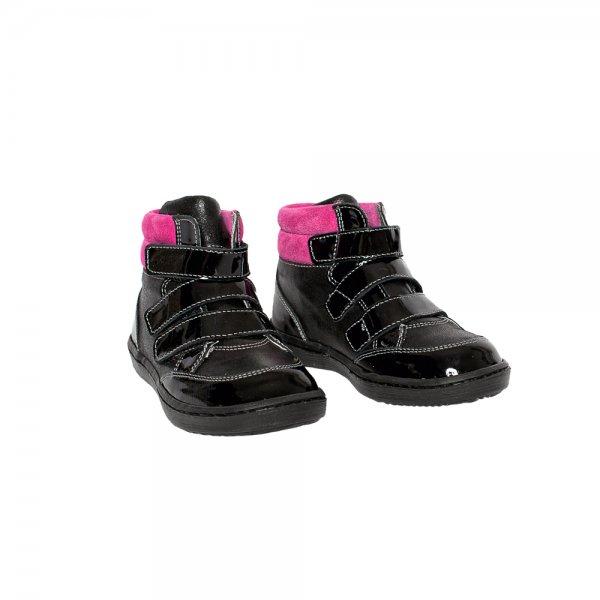 Ghete copii pj shoes pj shoes West negru fuxia 20-26